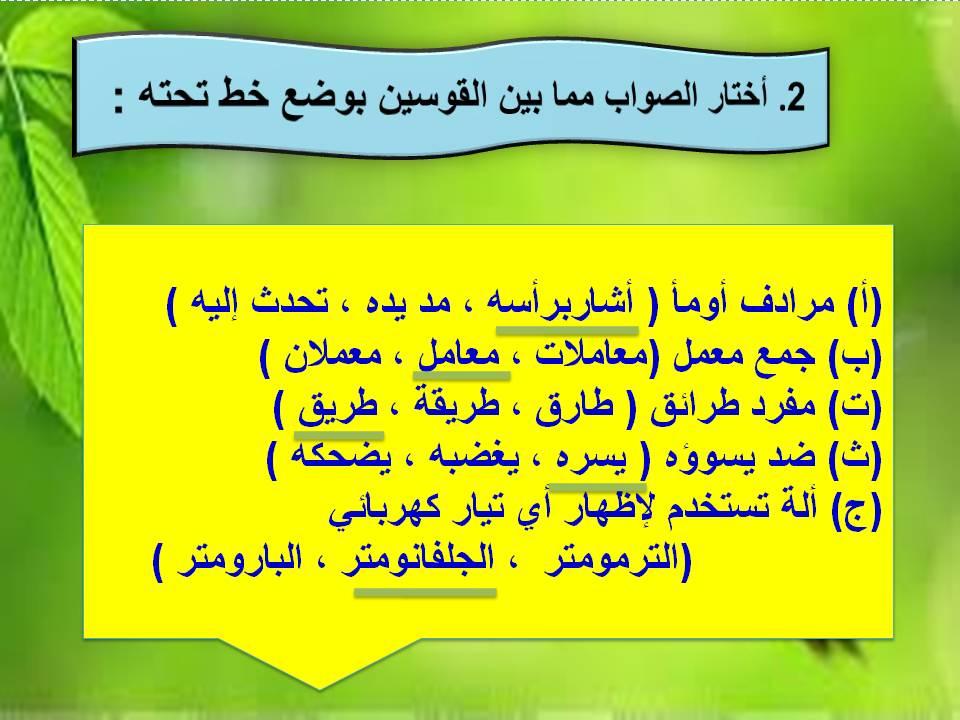 الفهم القرائي ثاني متوسط المصدر السعودي حب الوطن
